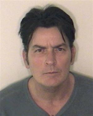 Charlie Sheen mug shot