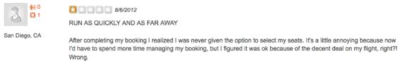 Yelp Reviews; Improve Yelp Reviews-Bad Review