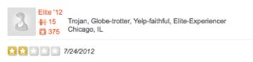 Yelp Reviews; Improve Yelp Reviews-Good Review 2