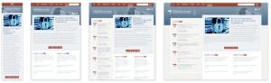 using responsing web design