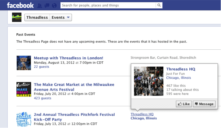 Promoting events on Facebook