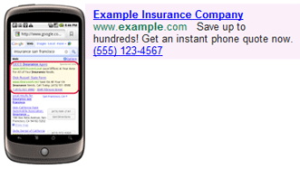 Adwords Call Extension