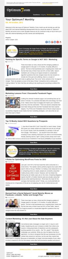 designing company newsletter