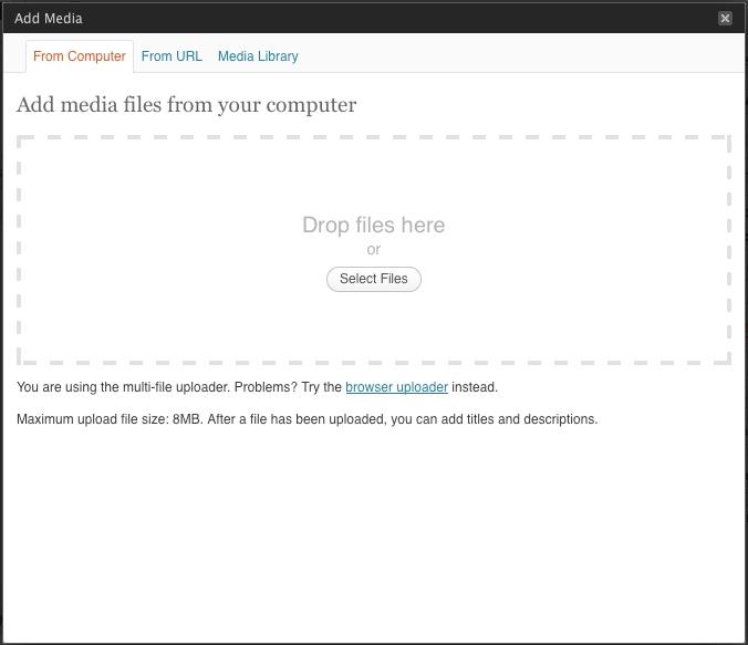 Insert/Upload Media from Computer