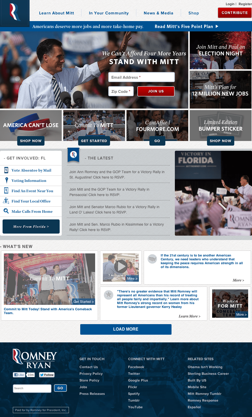 Mitt Romney Official Homepage