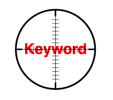 target high volume keywords in blog content