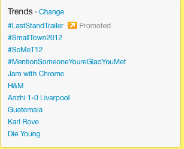 find trends with Twitter