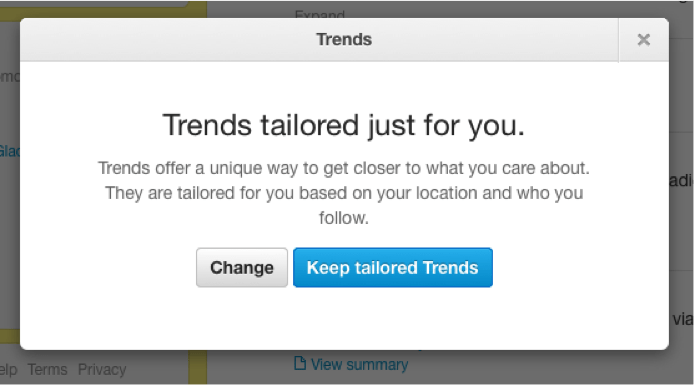 customize your own trend search