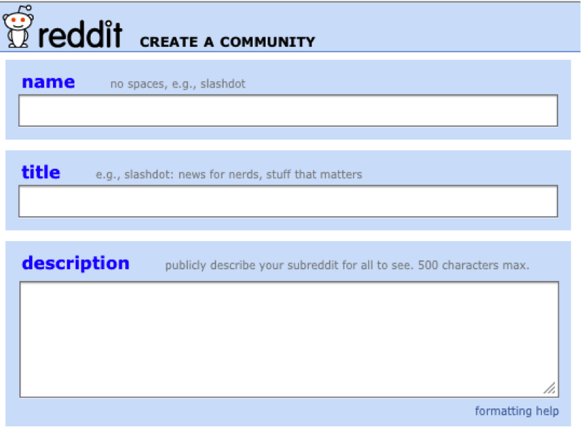 create your own Reddit community