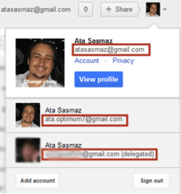 delegating a gmail account