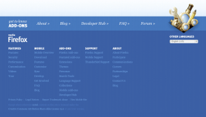 Add-ons For Firefox Footer