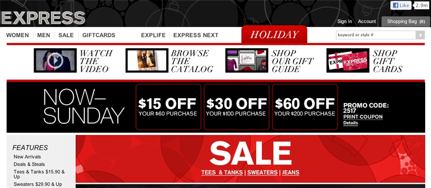 Express Homepage - Good Holiday Offers