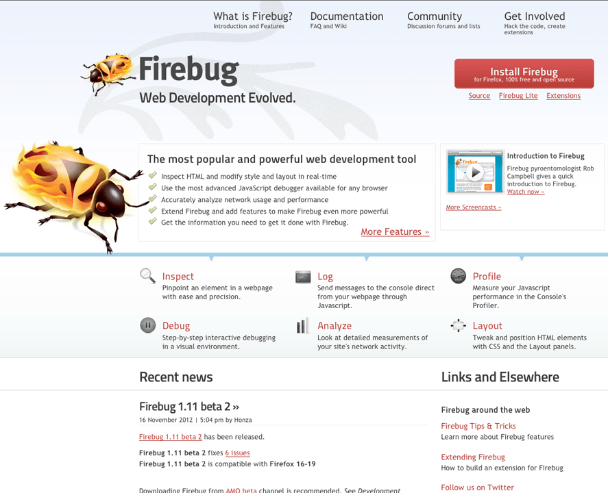 Firebug Screenshot