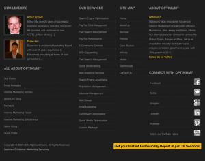 New Optimum7 Footer: Homepage
