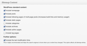 Excluding tag and category pages google xml sitemap