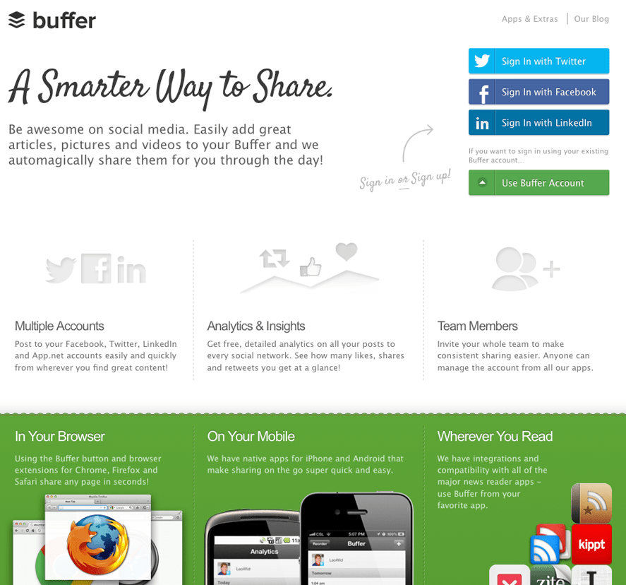 Buffer App Screenshot