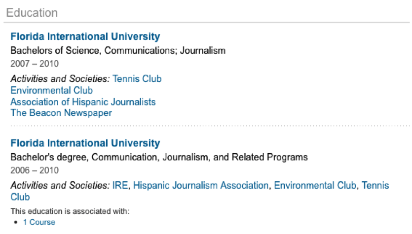 editing your educational information on your linkedin profile
