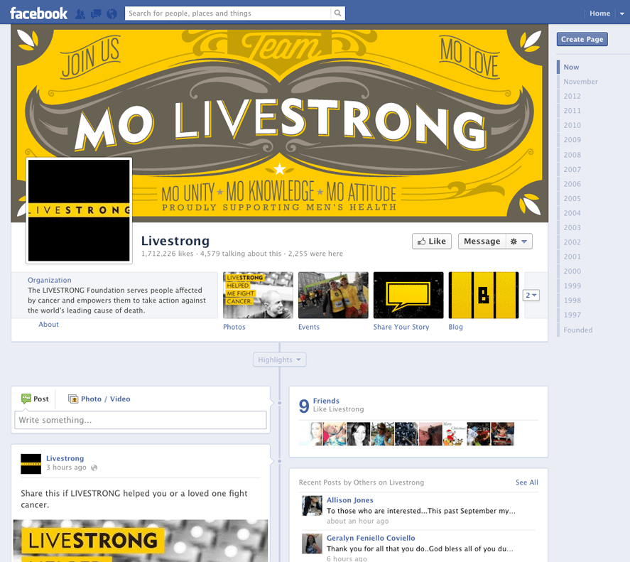 LivestrongFacebook