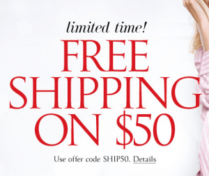 victorias secret free shipping offer