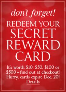 victoria's secret - secret rewards cards