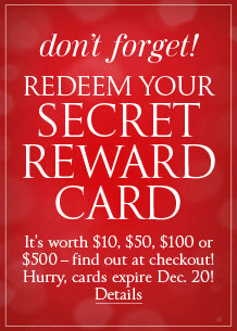 victoria's secret - secret rewards cards