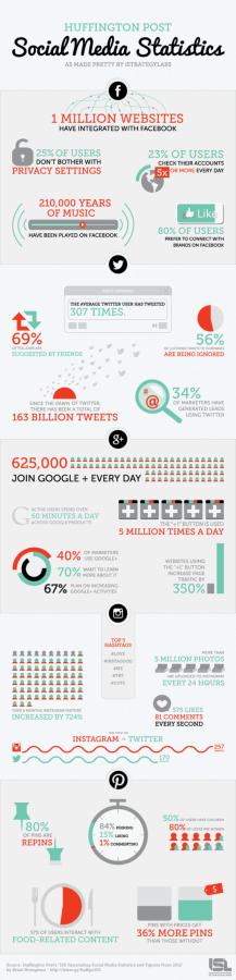 social media statistics for 2013