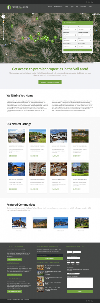 access-real-estate-website