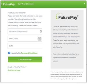 FuturePay Integration with Volusion