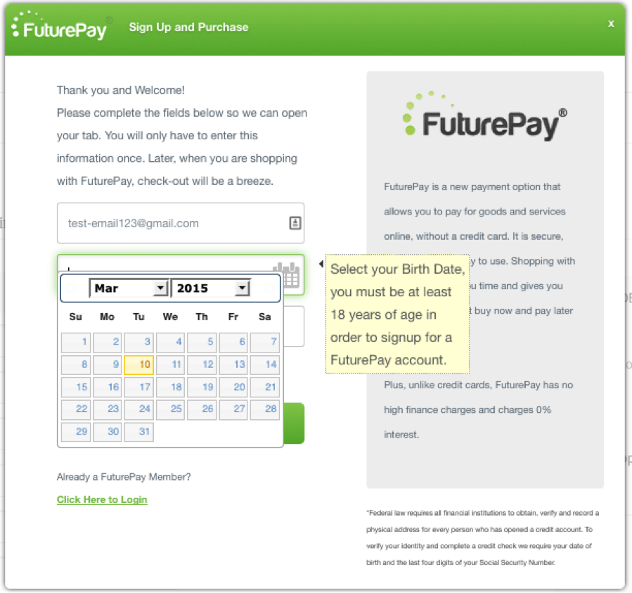 FuturePay Integration