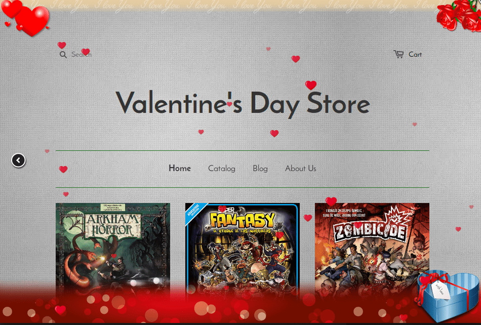 Valentines Day store