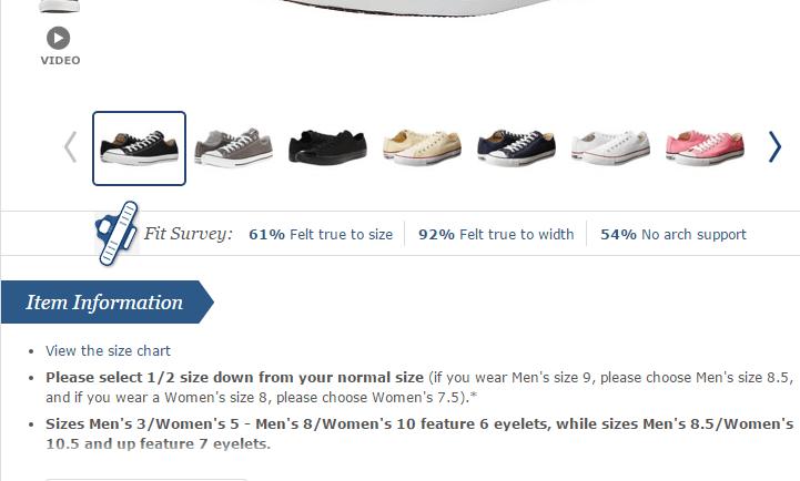 Final Shoe Size Fit Survey