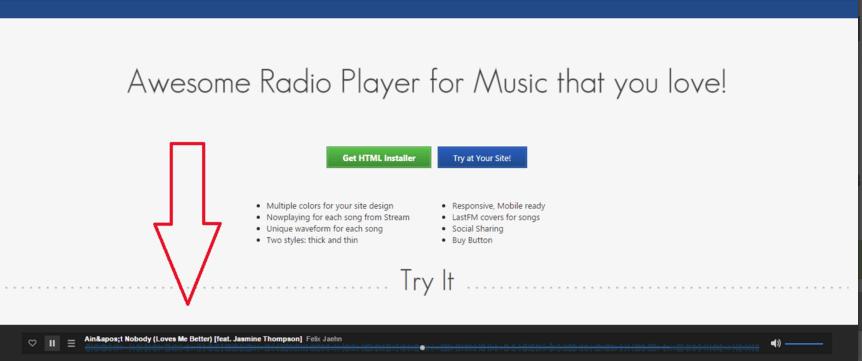 Sticky Music Player