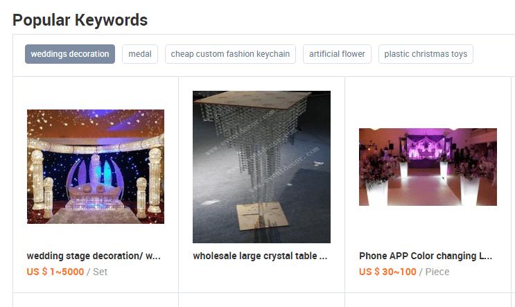 Popular Keywords Functionality