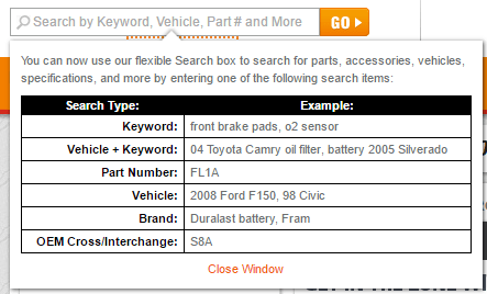 Search Examples Functionality