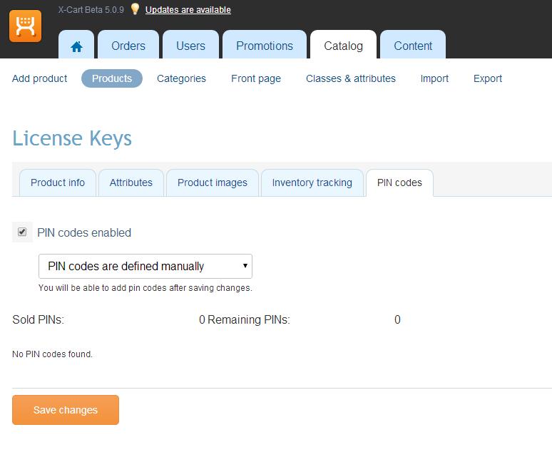 Sell license key and pin codes