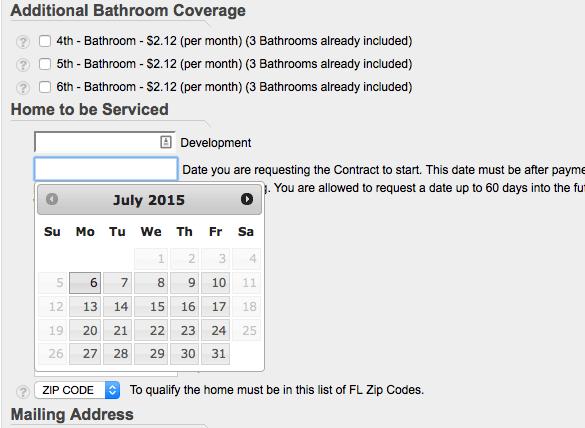 calendar ordering