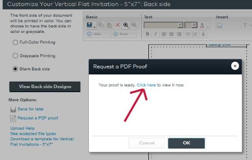 proof on site client design