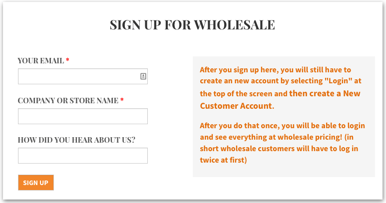 Wholesale and Retail Ordering Functionality