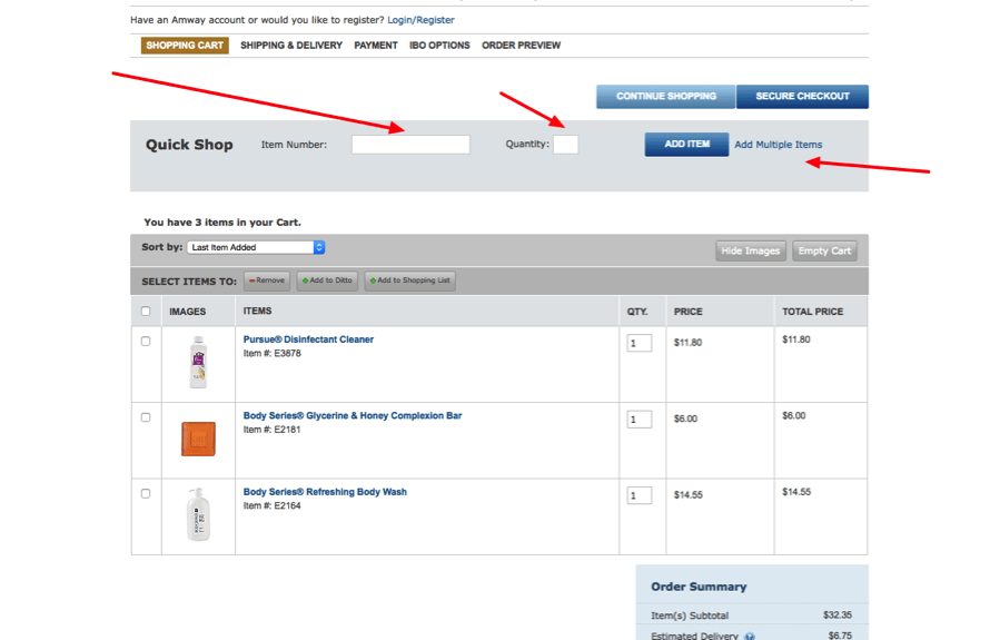 Add Products To Cart By Item Number for Volusion