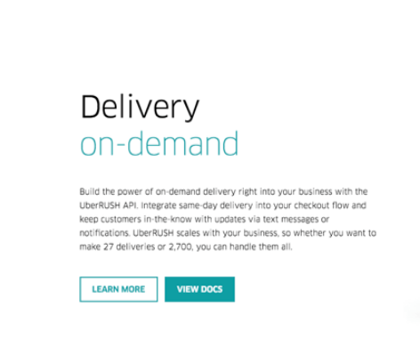 Uber Rush Delivery Integration