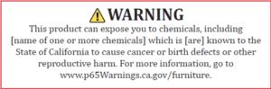 prop 65 warning furniture