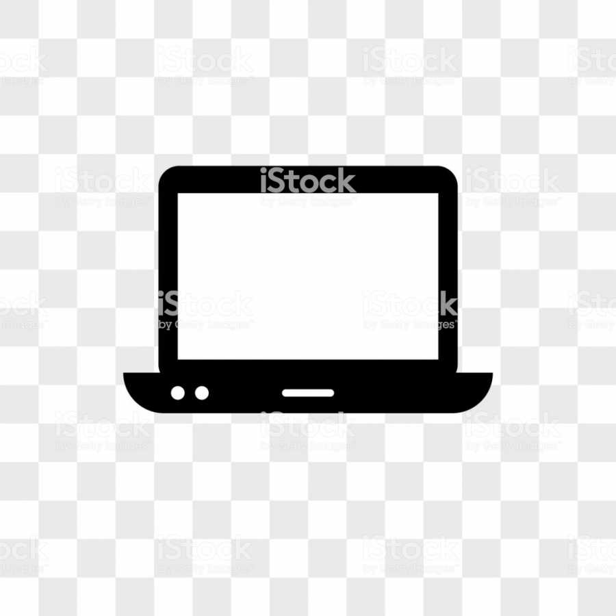 Computer vector icon on transparent background, Computer icon