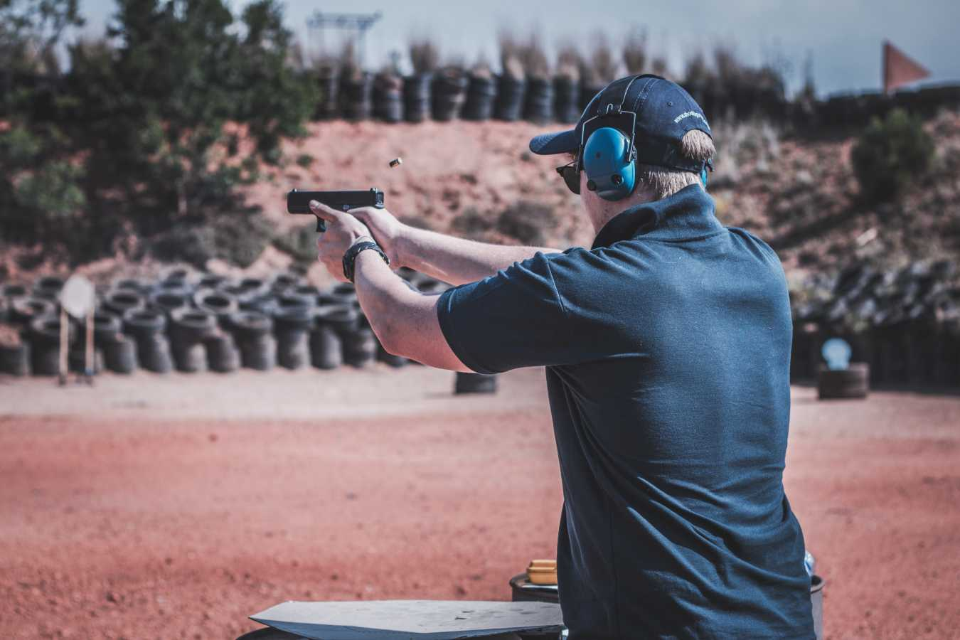 gun range action shot ppc for online gun shops