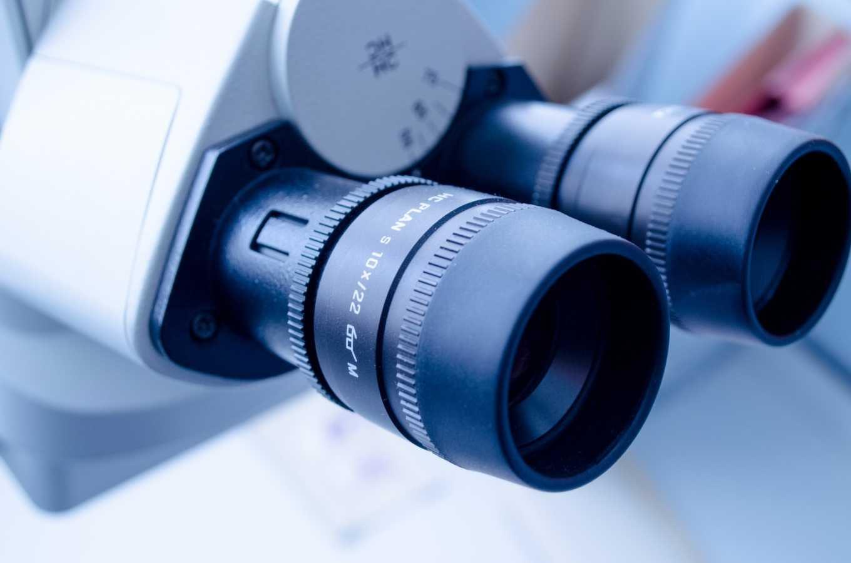 microscope closeup – biotech PPC