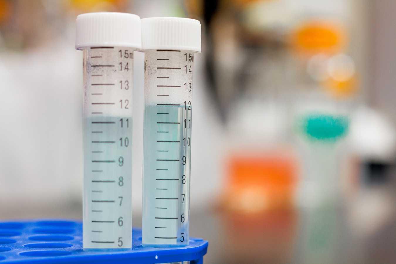 test tube closeup – biotechnology PPC