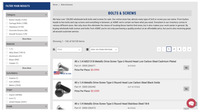 Bigcommerce Faceted Search Sample