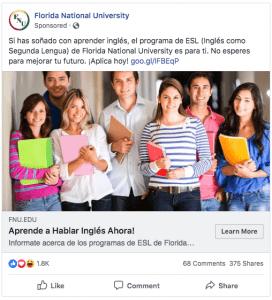 fnu esl facebook ad