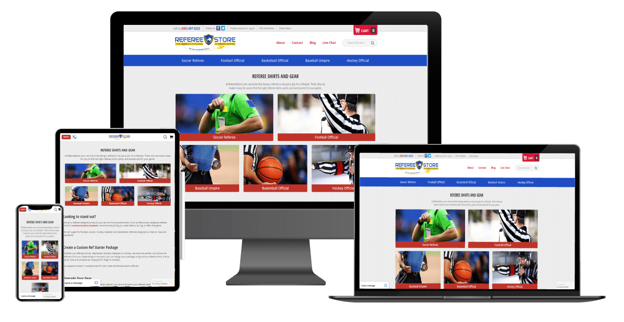 Referee Store Website