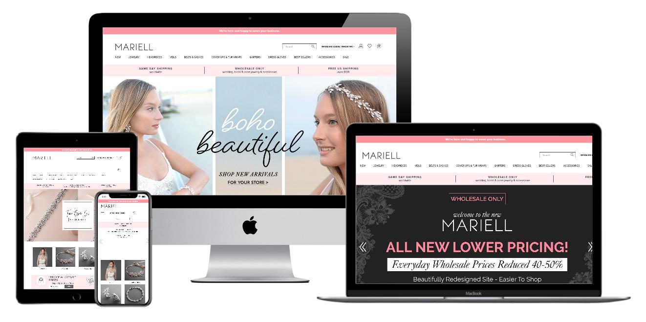 Mariell Website Mockup