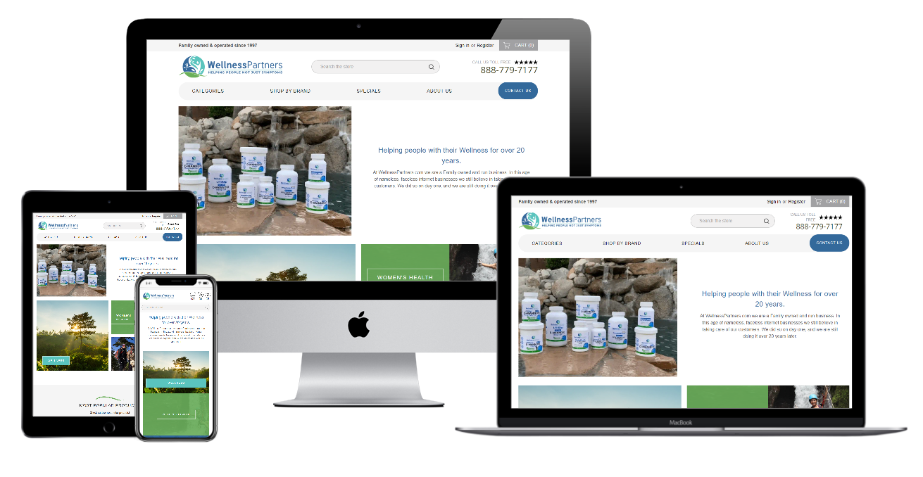 Wellness Partnets Website Mockup